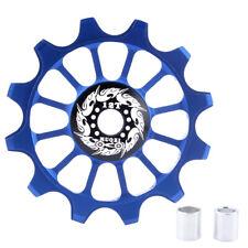 Bike Jockey Wheel Bicycle Rear Derailleur Ceramic Guide Pulley 12T, Blue