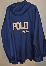 VTG 67 POLO SPORT Ralph Lauren Blue Jacket Hooded Rain Coat Mens XL/ 2XL