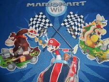 Wii Mario Kart Short Sleeve Shirt Boys Large Blue