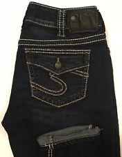 Silver Suki Skinny Jeans Jeggings Women's Dark Wash Stretch Size 30 X 29 - NWOT