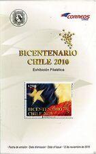 Chile 2010 Brochure Exhibicion Filatelica Bicentenario