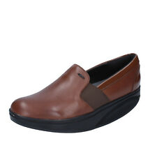 scarpe donna MBT 37 EU slip on mocassini marrone pelle vernice dynamic BZ910-B