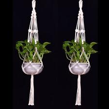 EG_macramé plante suspendu Pot de Fleur Jardin Support legs Corde Panier doux