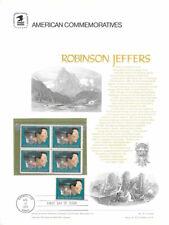 #19 8c Robinson Jeffers #1485  USPS Commemorative Stamp Panel w/FDC Very Scarce
