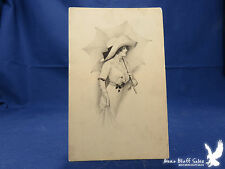 Pretty Lady Umbrella Gibson Girl with a Parasol BIG HAT 1913 Litho PC