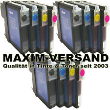 Patronen Set Multipack 12x Druckerpatrone für Brother LC1100 LC-1100 BK C Y M