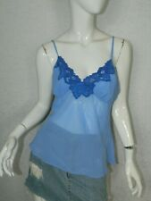 In Bloom by Jonquil Blue Polyester Lace Trim Intimate Camisole Size Medium