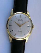 MONDIA 14 ct./.585 SOLID YELLOW GOLD AUTOMATIC MEN'S WRIST WATCH SWISS 1970's