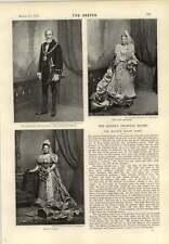 1893 STUART knill Lord sindaco di Londra Miss M Wight DR jaochim