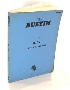 Austin A105 (BS5) Service Parts List Original BMC Illustrated Manual AKD1612