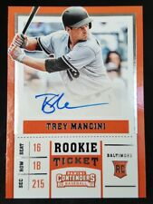TREY MANCINI 2017 PANINI CONTENDERS ROOKIE TICKET SIGNED AUTO BALTIMORE ORIOLES