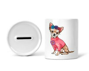 Sparschwein Spardose Sparbüchse mit Chihuahua Hund Spruch Hundebesitzer Dog