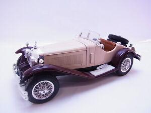 Lote 64251 Burago Mercedes-Benz Ssk 1928 Beige-Marrón Coche a Escala 1:18
