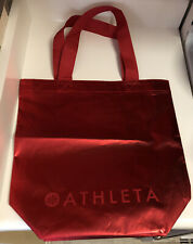New Athleta Metallic Red Holiday Reusable Shopping Tote Bag