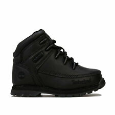 Infant Boys Timberland Euro Sprint Boots In Black- Lace Fastening- Eva Footbed-