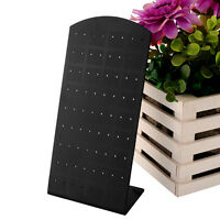 72 Holes Earrings Ear Studs Jewelry Show Black Display Stand Organizer Holder