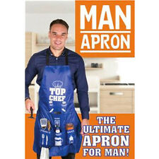 Man Apron ideal for BBQ man top cook novelty male apron
