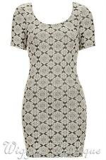Topshop Short Sleeve Casual Round Neck Dresses for Women
