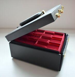 AQ-1711 Uhrenbox, Uhrenkoffer Lederimitat, Franzen Zahlenschloss, f. 36 Uhren