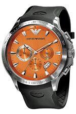 ** NEW **Emporio Armani® watch AR0652 , Orange , mens CHRONOGRAPH