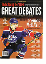THE HOCKEY NEWS FREAT DEBATES TAING SIDES ON 40 COMBATIVE ISSUE, COLLECTOR'S EDI
