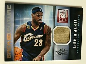2013/14 Panini NBA Elite LeBron James Back to the Future Game Worn Material #29