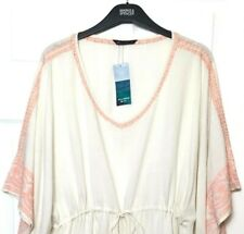 M&S Ladies Kaftan Ivory Embroidered Cover Up L 16-18 BNWT Marks £45
