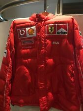 Ferrari OFFICIAL TEAM Winter Jacket FILA - sz 2XL / XXL - Puffer - SUPER RARE!!!