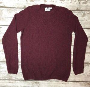 TOPMAN Size M Burgundy Red Thin Jumper Sweater Autumn Cosy Warm Winter Walking