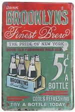 furniture home decor Brooklyn finest brew pub bar tin metal sign