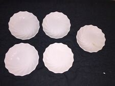 Set of 4 Plus 1 SPODE Copeland Old Stamp BUTTER PATS CHELSEA?  Swirl White