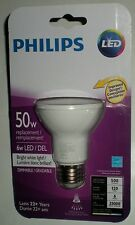 PHILIPS PAR20 INDOOR FLOOD 3000K LED LAMP BULB 6W=50W BRIGHT WHITE DIMMABLE 35˚