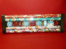 x1 set de x4 rouleaux papier cadeau Noël+ 2 bolduc de 10m + x7  étoile décorativ
