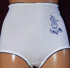 Vintage miederhöschen blanco con azul flor ex. DDR 80