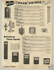 1953 PAPER AD Nutone Door Chimes Bell Bells Rittenhouse Symphonic The Beverly