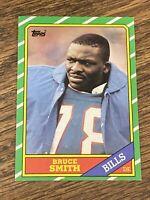 Vintage NFL 1986 Topps #389 BRUCE SMITH RC Buffalo Bills VTU DE HOF RARE NrMt/Mt
