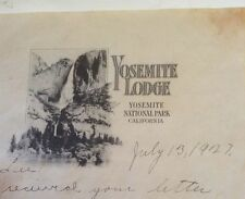 ANTIQUE LETTERHEAD YOSEMITE LODGE