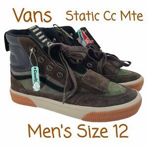 Vans Static CC MTE Grape Leaf/Demitasse Shoes Men's Size 12 VN0A4P3LTWS