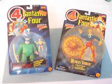 Toy Biz Marvel Comics Fantastic Four MOLE MAN & HUMAN TORCH Action Figures MIP