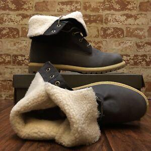 8313A Women's Timberland BootTeddy Fleece Fold-Down Waterproof Grey. Size:11