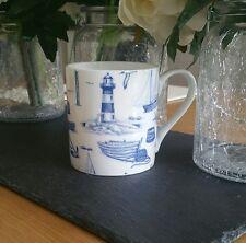 Bone China Blue Nautical Marine Seaside Mug Chintz Hand Decorated In Wales Gift