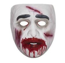 Transparent Zombie Bloody Male Adult Plastic Mask