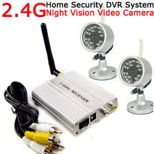 2.4G Wireless 4CH Home Security System +2pcs 24LEDs IR Night Outdoor CCTV Camera