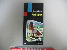 f5-0, 5 # Faller FOLLETO 1962/1963 DM ; COMO NUEVO