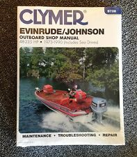 Clymer Evinrude Johnson Outboard Manual 48-235 HP 1973-1990 B736