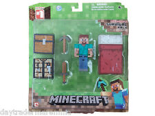 MINECRAFT Steve - 3 Inch Action Figure: Core Player Survival Pack #Item 16450