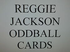 REGGIE JACKSON  -  ODDBALL cards $0.99 each NEW YORK YANKEES - OAKLAND A's