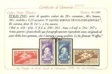 1935 Regno Salone Aeronautico Serie cpl. Cert. Caffaz**