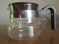Vintage Pyrex Flame-ware France 2 Cup Coffee / Tea Pot / Kettle
