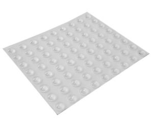 72 Mini Clear Self Adhesive Domed Rubber Feet, Bumper Stops for Coasters & More